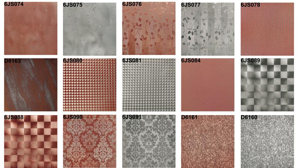 low price cheap floor tiles 3d silver Glazed metallic floor ...