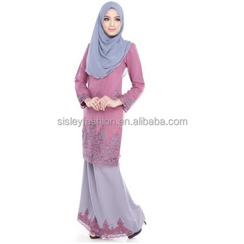 Baju kurung peplum style dresses