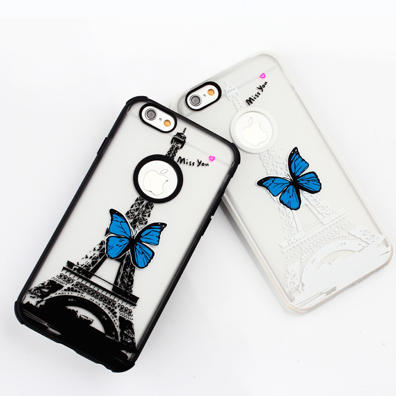 Wholesale New Lovely Transparent Flashing Light Case Cover For Apple iPhone 5 5S 5C 6 6 plus