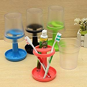 Creative Table Lamp Shape Toothbrush Holder Wash Gargle Suit