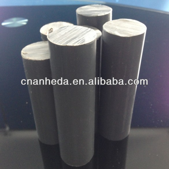Grey Color High Quality Solid PVC Rod