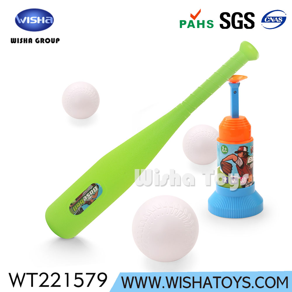 Customized Kids Outdoor Plastic Baseball Bats Ball Training Toy Set with Auto Launcher