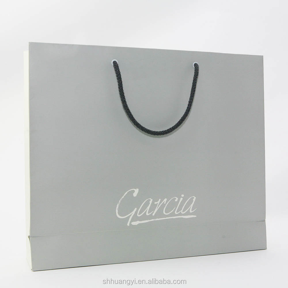 Hot sale silver plating white paper tote bag