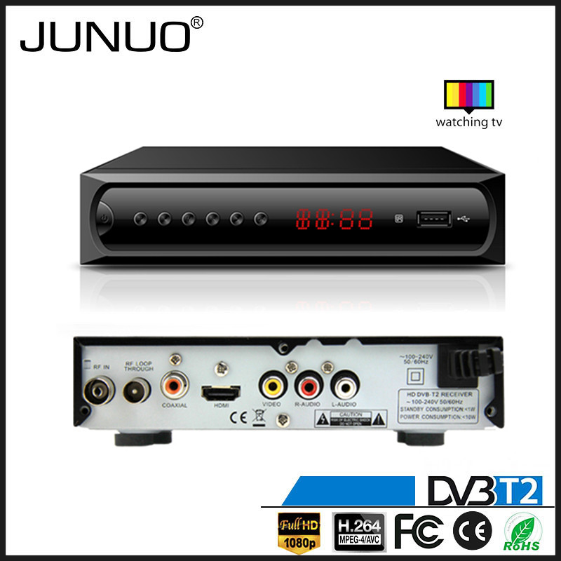 JUNUO china manufacture OEM good quality free to air tuner hd mpeg4 mstar 7t01 dvb t2 digital tv receiver Austria