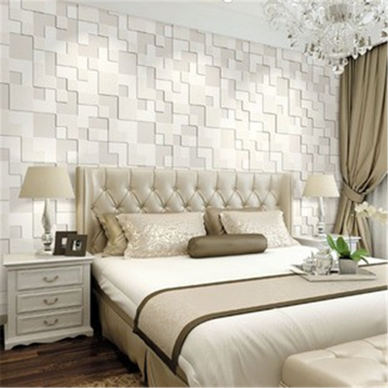 Newest Modern Fashion Simple 3D Mosaic Living Room 10M Non-woven Fabrics Wallpaper Background Decorate 10x0.53m 3 Color Home