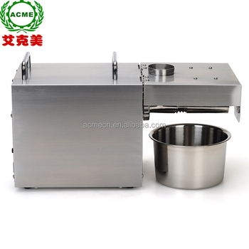 Fully automatic small home use oil press machine sunflower seed olive