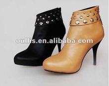 high heels pumps 2012 china shoe genuine leather LD41