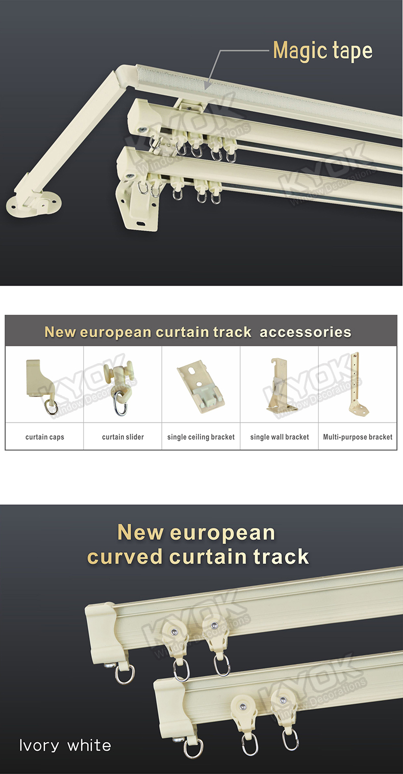 KYOK Double Curtain Rod U0026 Curtain Rod Accessories Factory, Electric Curtain  Track,curtain Track