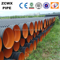Black hdpe double wall corrugated pipe
