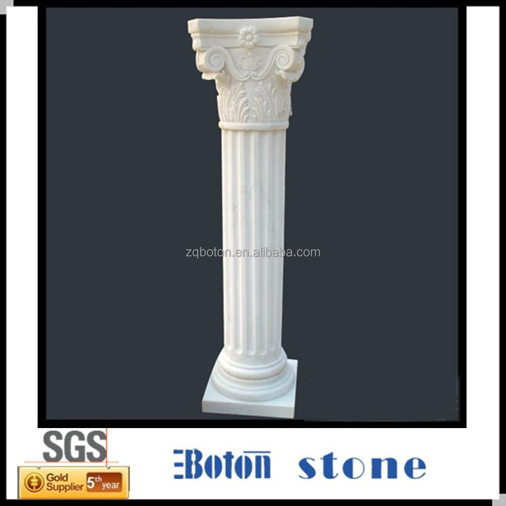Romano marmol piedra columna pilar material de for Marmol material de construccion