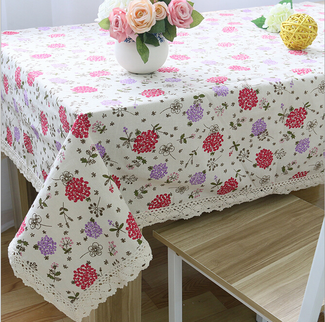 2015 New <font><b>Bohemian</b></font> Style Flower Printing Tablecloth Cotton Linen Table cloth Linen Rectange Table Cover For <font><b>Home</b></font> <font><b>Decoration</b></font>