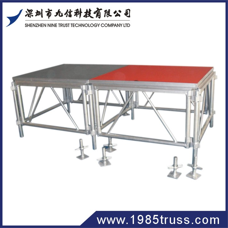 Professional aluminum performance concert portable part show mobile stage manufacture with TUV certification