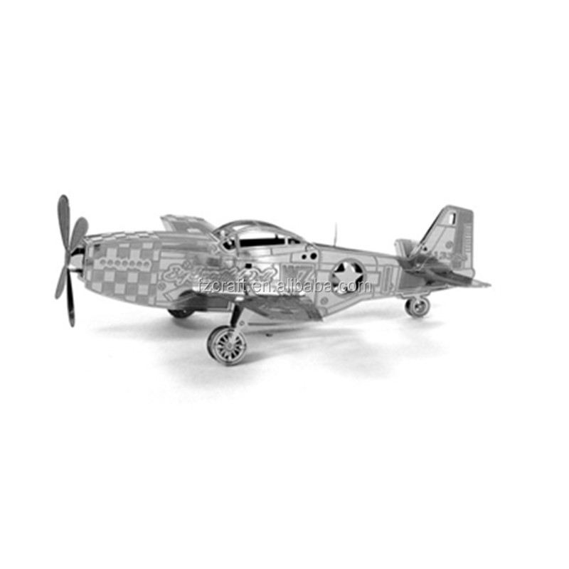 3D Metal P-51 Mustang Fighter Bomber Star Puzzle War AT-AT Walker TIE Fighter Millennium Falcon Destroyer X Wing robot toy
