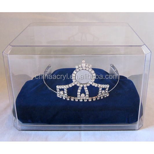 NEW product Factory directly sale acrylic tiara display case for wholesaler
