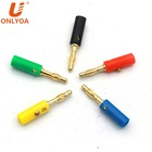 Audio wire speaker cable connector gold plated stacking solderless 4mm Jack Screw-type banana plugs with set screw