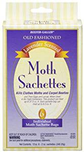 Willert Home Products 1412.6 12 oz. Lavender Old Fashioned Scented Moth Sachets