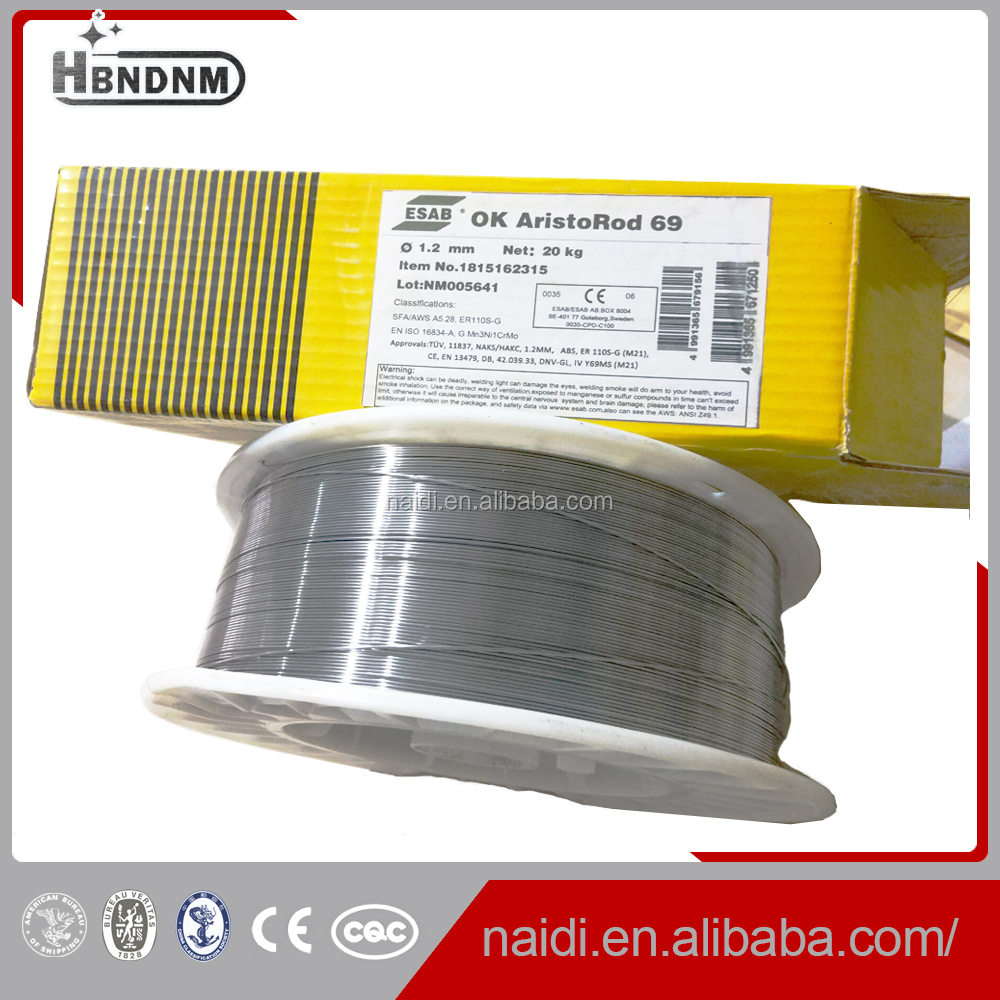 Esab Ok Aristorod 69 Er110s-g Solid Welding Wire 1.2mm - Buy Esab ...