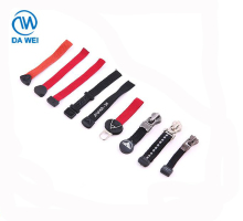 DAWEI brand customized factory price silicone with rope and metal body rubber zipper puller