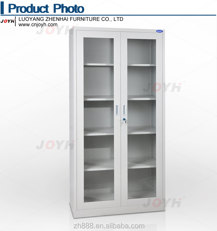 Swing Glass Door Filing Cabinet/ Full Height Steel Cupboard/kd ...