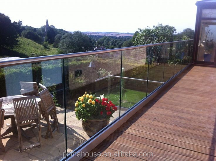 Tempered Glass Deck Railing Aluminium Glass Channel System With ...