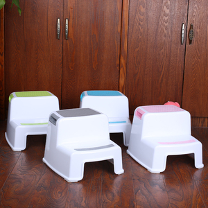 Child Toilet stool dual height plastic stackable child step stool for kids