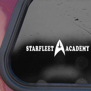 STAR TREK STARFLEET ACADEMY White Decal Sticker Die-cut White Decal Sticker