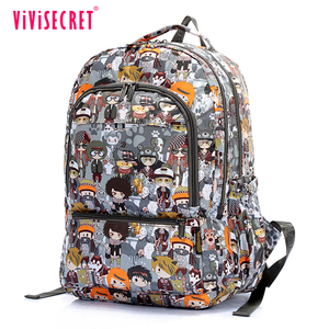 Nylon fabric fashion cartoon bookbag comely pretty hipster school backpacks on line