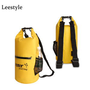 Custom Logo Kayak 10L 20L Water Proof Dry Bag Waterproof Roll Top Sack with Exterior Zip and Mesh for Outdoor Activites