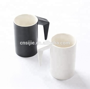 Promotional Custom Color 11OZ Ceramic Mugs With L-Handle