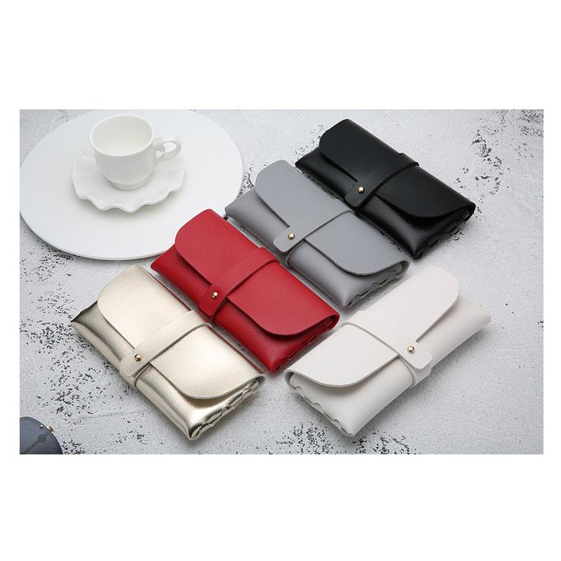 Good quality new designer glasses case bag custom logo pu leather sunglasses case, Black,gray,white,red,gold