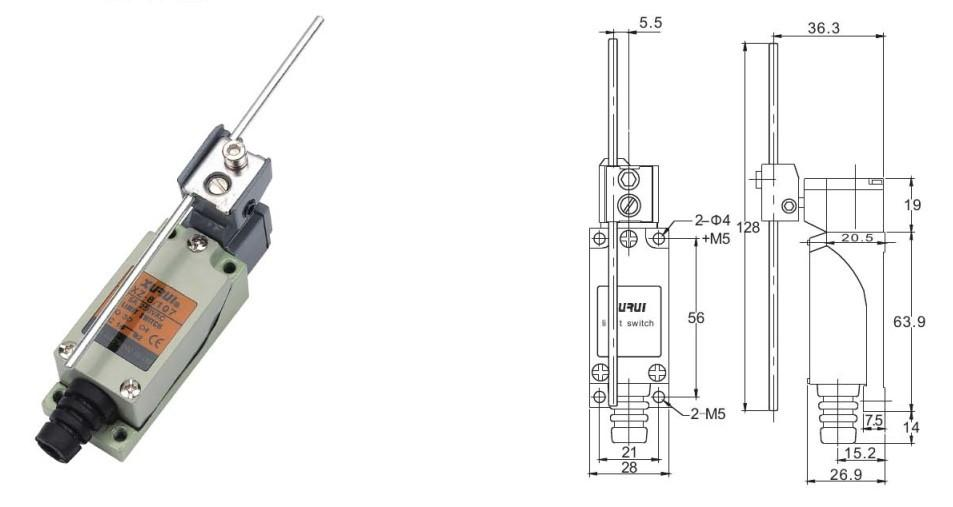 safety limit switch    pneumatic limit switch    travel
