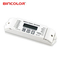 BC-820 lcd screen display DMX to SPI pixel light WS2812 SK6812 IC chip led strip DMX signal decoder controller