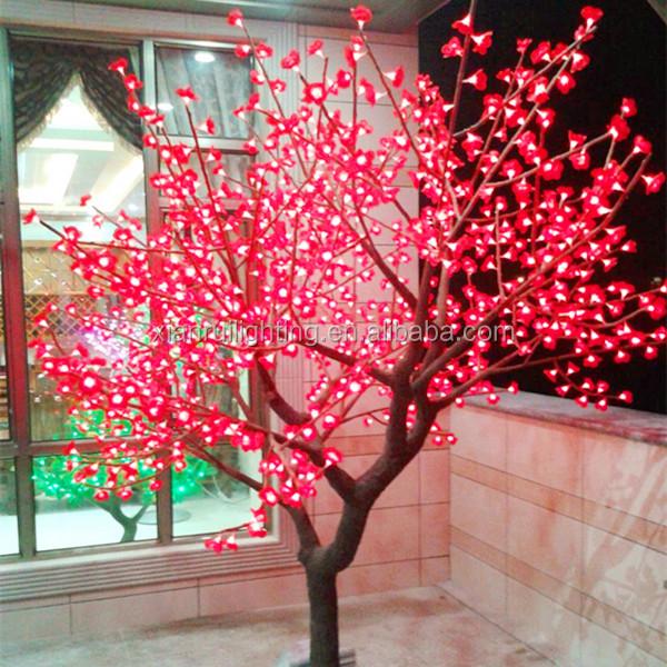 seco ramas de rboles con colores de luz led para decoracion