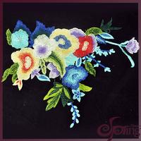 9 colors multicolor vintage floral lace motif embroidery design lace collar