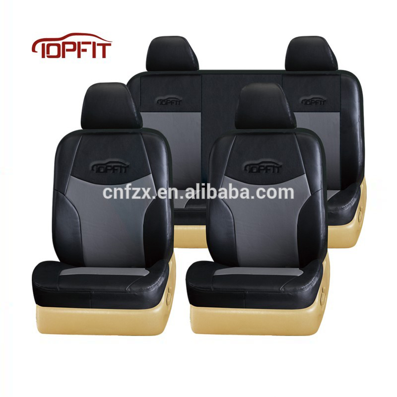 New Car Seat Covers Pvc Leather Car Seat Covers Black And Beige Colour Universal Car Seat Buy New Car Seat Covers Pvc Leather Car Seat Covers Black And Beige Colour Universal Car