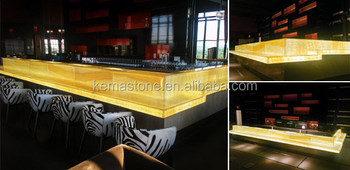 Lighted Onyx Bar Counter Tops