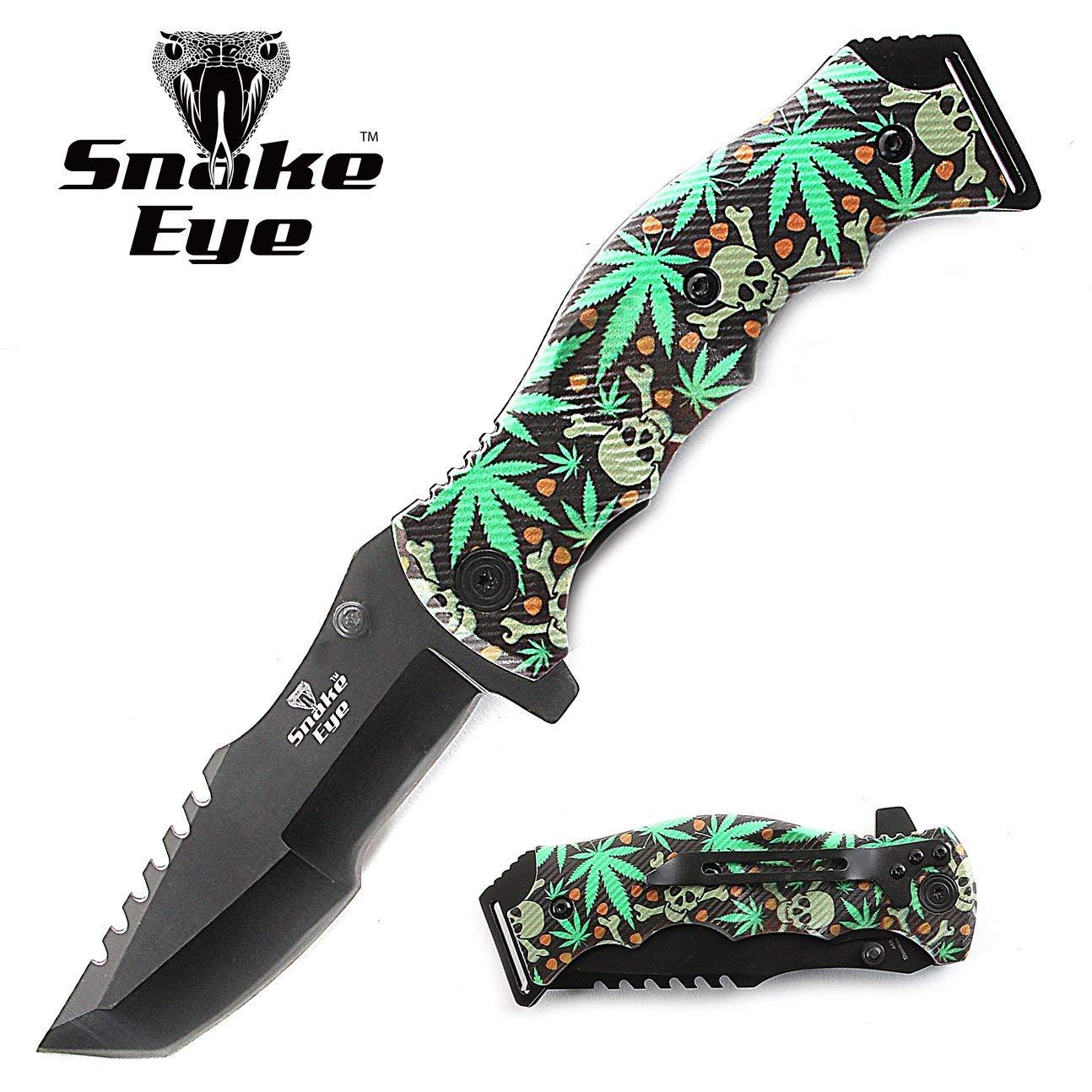 Snake Eye Tactical Heavy Duty Huntsman Folding Pocket Knife Outdoors Hunting Camping Fishing
