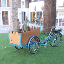 Adult 3 wheel electric cargo bike with hydralic disc brake/cargo trike/tricycle