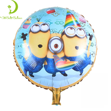 Wholesale Round Shape Minions Helium Foil Balloon For Birthday And Party Decoration