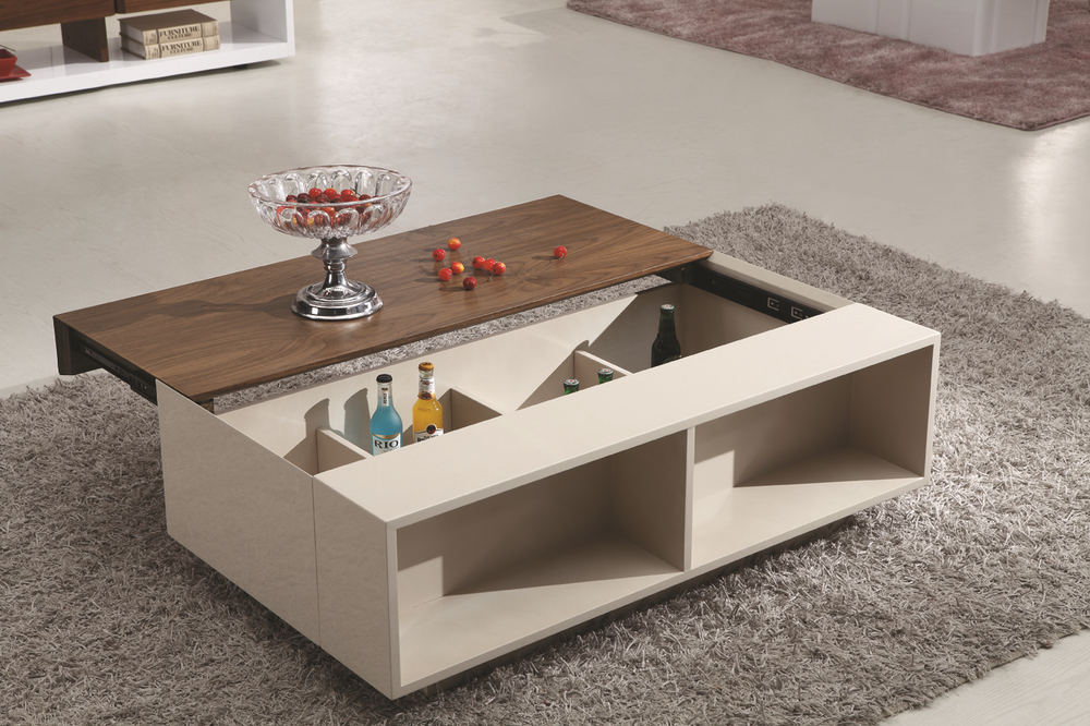 Living room furniture tea table design modern wood and - Glass centre table for living room ...
