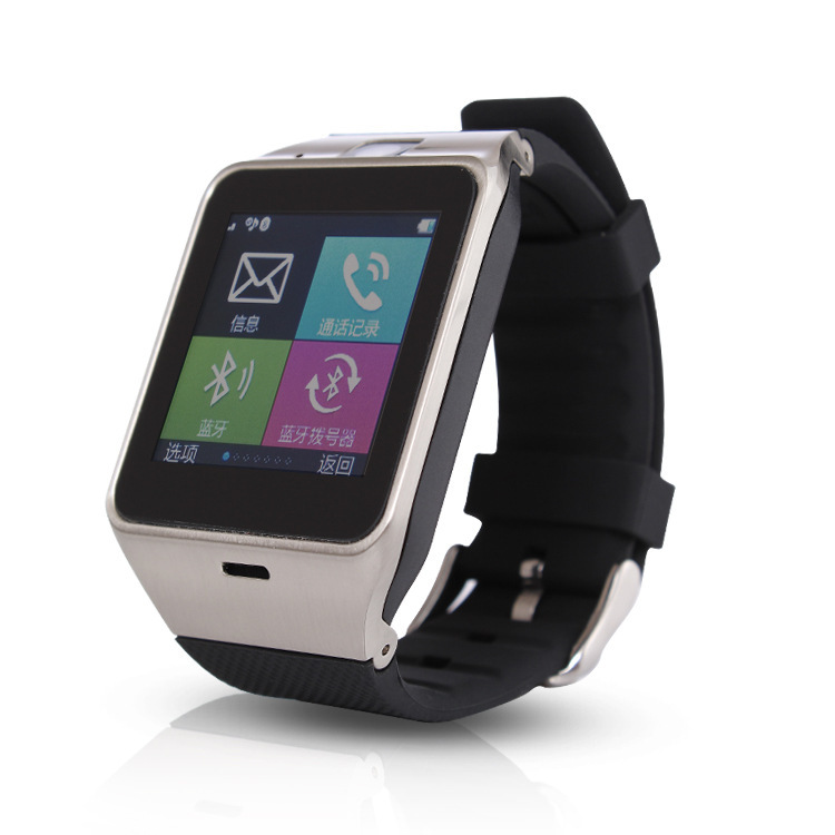 2015 Newest Designer Watch Phone Can Insert Card, Smart Bluetooth Watch With Music Player Passometer Digital Watch