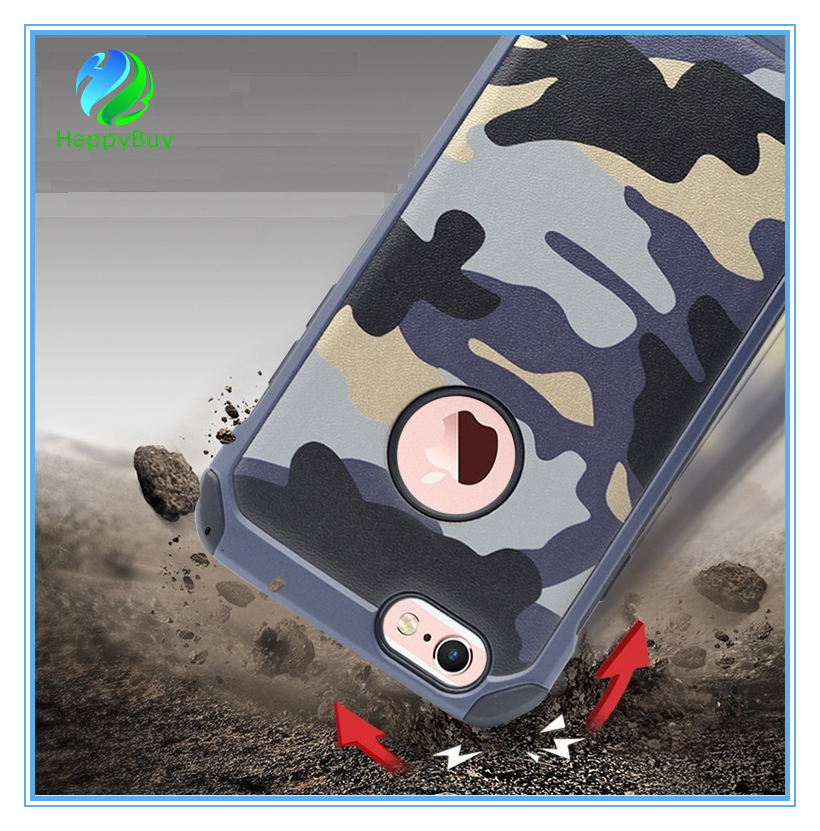 Triple materials defender cell phone case cover for iphone5/5s/se,6/6s/6 plus,7/7 plus with best quality
