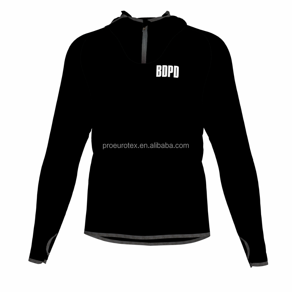 Kundenspezifisches Drucken Training Sportswear 1/4 Zip Sweatshirt Hoodies Top