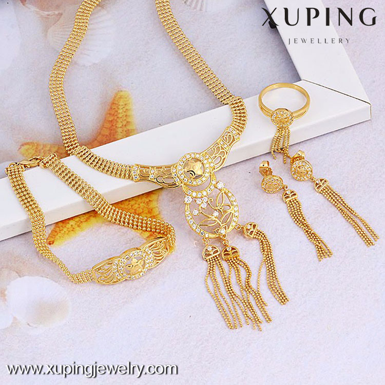 60748- Xuping Fashion New Design Tassel Christmas Jewelry Set For Womens Trendy 2016