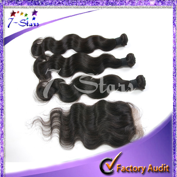 2014 china wholesale new unprocessed virgin Bundles hair weft with Closure brazilian hair