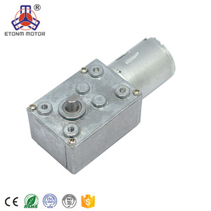 12v worm drive gear motor CE Certification and Permanent Magnet Construction brush motor