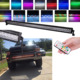 288w 50Inch Led Light Bar Halo Ring 12 Solid Colors RGB Chasing 300 Flashing Modes free wire harness led light bar offroad 4x4