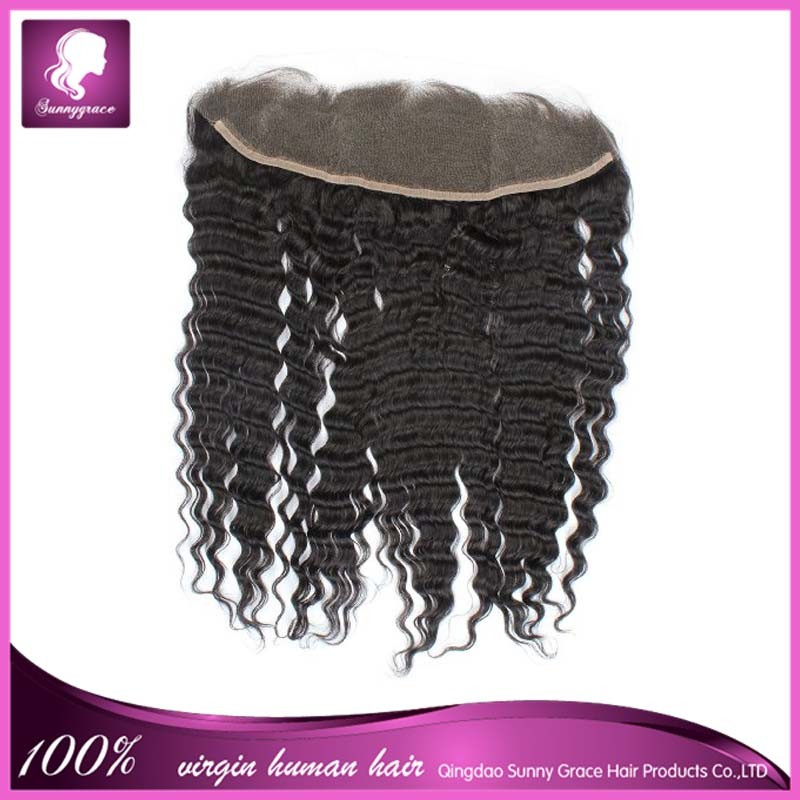 Brazilian Lace Frontals With Baby Hair 100% Human Hair Lace Frontal 13x6