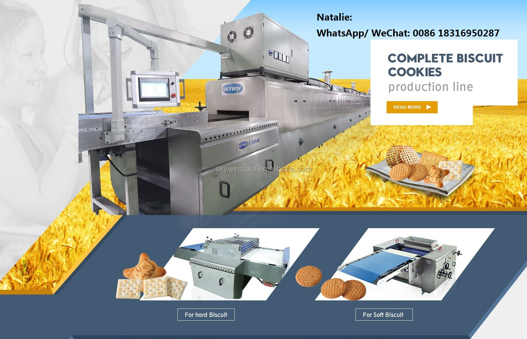 Skywin Brand Automatic Biscuit Making Machine