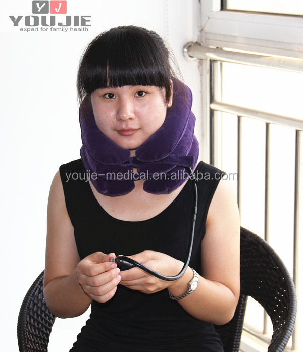 Air neck support brace cervical collar neck massage